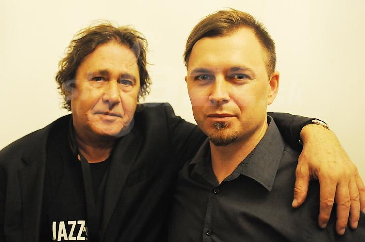 is Sclavis a Pavel Morochovič, zákulisie festivalu Jazz Prešov 2016 © Patrick Španko