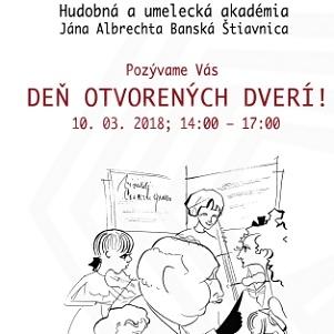 Hudobná a umelecká akadémia Jána Albrechta má Deń otvorených dverí !!!